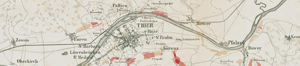 Weinbaukarte Clotten Trier
