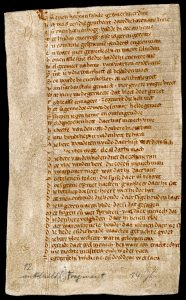Handschriften-Fragment des Nibelungenliedes aus der Stadtbibliothek Trier