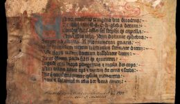 Fragmentenbox 6b, Fragment 01 - Grabinschrift (Stadtbibliothek Trier)