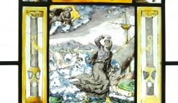 Historische Wappenscheibe der Stadtbibliothek Trier