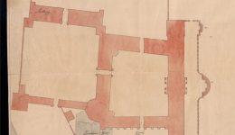 Ausschnitt Plan des Kurfürstlichen Palais mit zugehörigem Garten Trier