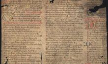Handschriften-Fragment Mariengebete aus der Stadtbibliothek Trier
