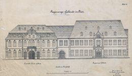 Ansicht des Palais Walderdorff in Trier vom Domfreihof