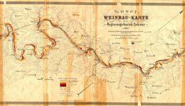 Mosel-Weinbaukarte für den Regierungsbezirk Koblenz (angefertigt durch Markworth, 1897) nach der Restaurierung